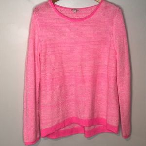 GAP Neon Pink wool blend sweater Large